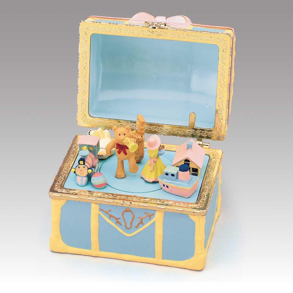 Christmas Toy Box : Baby toy chest mr christmas music box ebay