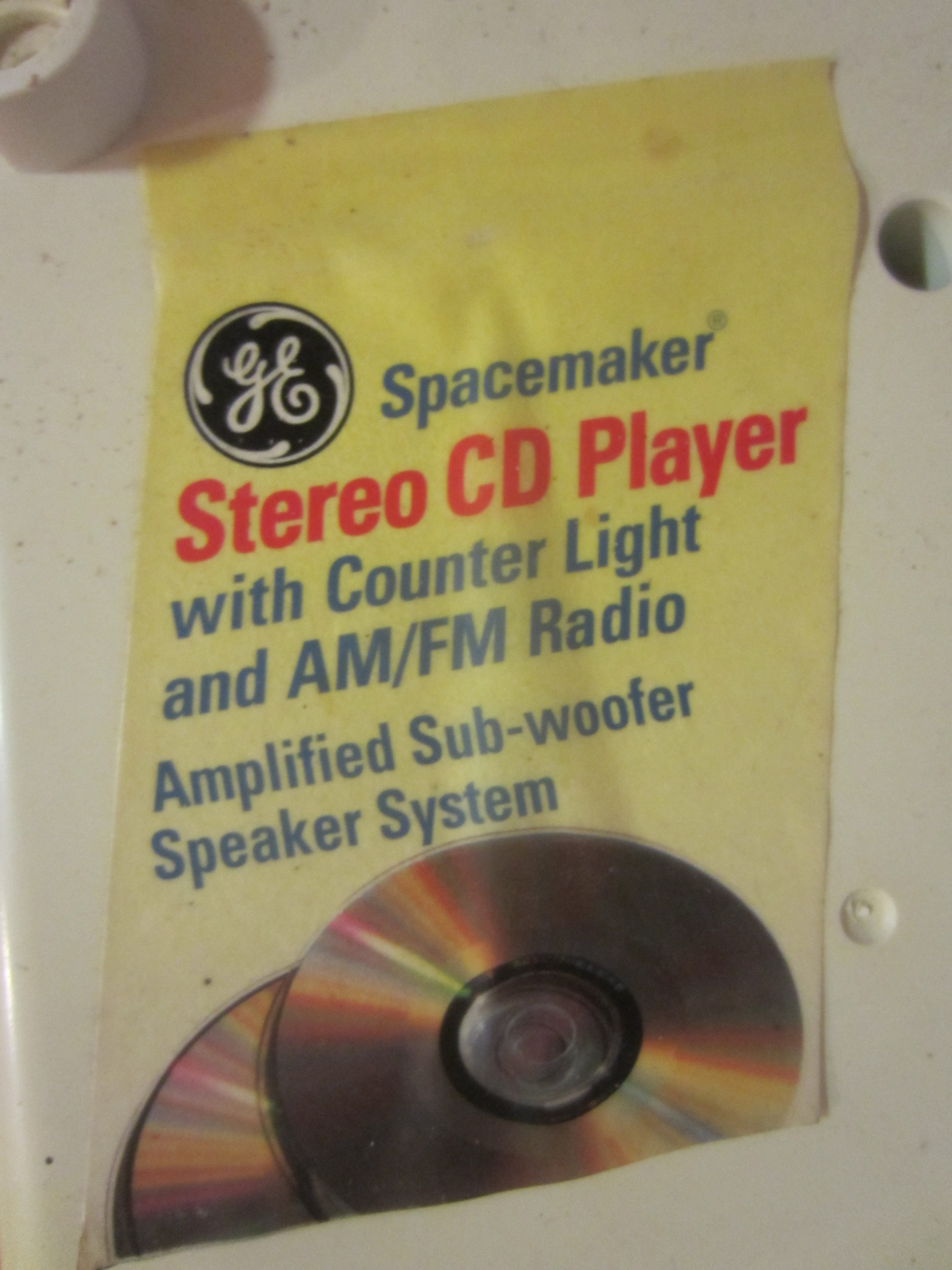 ge spacemaker under cabinet radio cd player manual